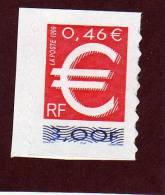 24 - 3215 De  1999  - Neuf ** Adhésif  - Le Timbre EURO . Provient D´un Carnet - Autoadesivi