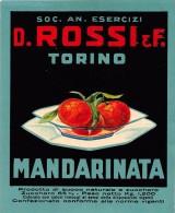 "01557 ""MANDARINATA - D. ROSSI & C. TORINO""  ETICHETTA ORIGINALE, ANNI '30 - ORIGINAL LABEL , YEARS' 30. - Fruit En Groenten"
