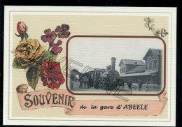 ABEELE  .... gare  ....   souvenir  creation moderne s�rie limit�e et numerot�e 1 � 10 ... n� 3/10