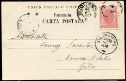 77840 Q - 1 TP, Tarif  10 B, Cad BUCURESTI Oct 1901 S/CP Pour La GRECE TB - Marcofilie