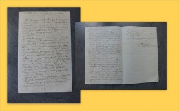86 Vouneuil-sur-Vienne, 1863, Lettre Autographe Du Garde De M. De Chièvres, Dumarais, Contre Bercy ; Ref 631 P1 - Documents Historiques
