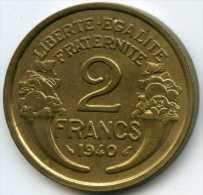 France 2 francs 1940 GAD 535 KM 886