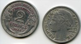 France 2 francs 1944 GAD 538a KM 886a.1