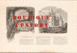 GRAVURE 19e SIECLE - CHATEAU De CHAMBORD < LOIR Et CHER 41 - Prints & Engravings