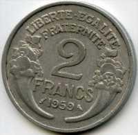 France 2 francs 1959 GAD 538c KM 886a.1