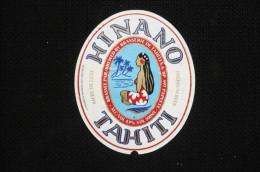 étiquette Illustrée De Biere Tahiti Brasserie Hinano Polynésie Papeete - Vecchi Documenti