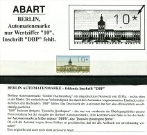 3426 - BERLIN - Automatenmarke 1 Ohne Inschrift DBP - Berlin (West)