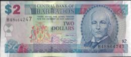 BARBADES - 2 Dollars 2007 UNC - Barbados