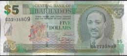 BARBADES - 5 Dollars 2007 UNC - Barbades