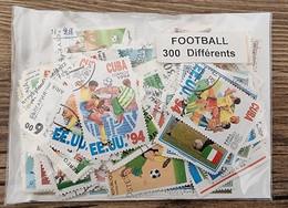 FOOTBALL Lot De 300 Timbres Tous Differents Neufs Et Oblitérés. Satisfaction Assurée - Football