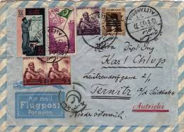 Letter Air Mail Ägypten ALEXANDRIA To TERNITZ Austria 1955 (292) - Ägypten