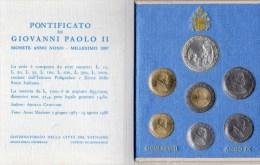 PIA - VATICANO - 1987 : Serie Monete Anno IXI°Pontificato Di Giovanni Paolo II - 80.000  Serie - Vatican