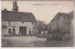 """BOUSSENOIS : LA PLACE - CACHET """"ESCADRON DU TRAIN"""" - ECRITE 1915 - R/V - - Altri Comuni"""