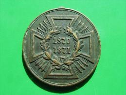 PREUSSEN Kriegsdenkmünze 1870/71 Ohne Randschrift (Spangenstück) - Medaillen & Ehrenzeichen