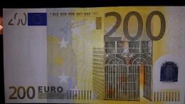 """3439 - 200 Euro-Schein Mit Nr. E001E4 Und Unterschrift """"Trichet"""" - DER EINZIGE """"TRICHET"""" - Minimal Gebraucht - EURO"""