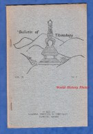Livret De 1972 - Bulletin Of TIBETOLOGY - Namgyal Institute , Gangtok Sikkim India - Vol. IX N°2 - Buddhism Tibet Chine - Cultuur