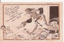 CHENET (ILLUSTRATION) FEMME NOIRE NUE ET ENFANT 1918 - Illustrateurs & Photographes