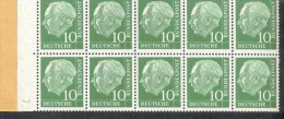 Markenheftchenblatt 10 Fb Bund Postfr. MNH ** - [7] West-Duitsland