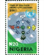 Ref. 98830 * MNH * - NIGERIA. 2001. YEAR OF DIALOGUE AMONG CIVILIZATIONS . A?O INTERNACIONAL DEL DIALOGO ENTRE CIVILIZAC - Nigeria (1961-...)