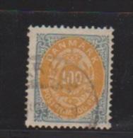 Danemark //  N 29 B   //  100 Ore Gris Ocre //  Oblitéré  // Côte 75 € - 1864-04 (Christian IX)