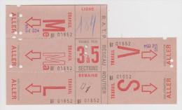 RATP CARTE HEBDOMADAIRE DE TRANSPORT LIGNE 184