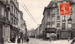 Cpa  14  Caen , La Rue Caponiere , Prise De La Place Des Petites Boucheries - Caen