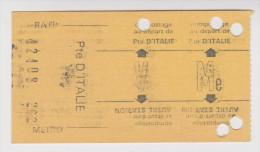 RATP CARTE HEBDOMMADAIRE DE TRANSPORT COMPOSTAGE PORTE D'ITALIE - 2 scans -