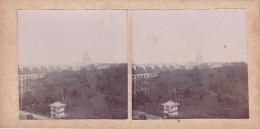 Superbe Photo De Calais Prise Du Beffroi Vers 1920 Vue Sur Oarc Et Eglise Notre Dame Superbe Et Unique - Stereoscopic