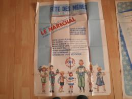 AFFICHE FETE DES MERES 25 MAI 1941 . LE MARECHAL PETAIN DEMANDE AUX ENFANTS DE REMERCIER LEURS MAMANS