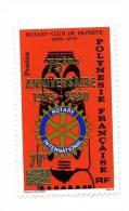 POLYNESIE FRANCAISE-ROTARY-1980-Timbre Surchargé Dentelé***MNH - Rotary, Lions Club