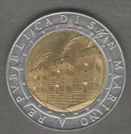 SAN MARINO 500 LIRE 1992 BIMETALLICA - San Marino