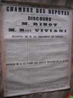 AFFICHE - LOT DE 2 AFFICHES 1917 / 1918    ENTOILEES    110 X 90 cm   CHAMBRE DES DEPUTES