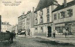 Moselle DIEDENHOFEN THIONVILLE Mairie Et Rue Du Pont ....G - Thionville