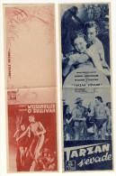 Johny Weissmuller et Maureen O�Sullivan dans Tarzan s��vade. Bande publicitaire du film