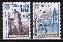 CEPT 1977 MC MI 1273-74 USED MONACO - Europa-CEPT