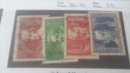 LOT 259593 TIMBRE DE FRANCE OBLITERE N�330 A 333 VALEUR 33 EUROS DEPART A 1 €