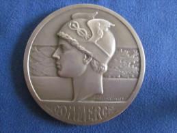 MEDAILLE BRONZE COMMERCE/SYNDICAT CREMERIE 1957 CAP /TETE DE MERCURE - Professionals / Firms