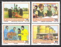 Bophuthatswana Südafrika RSA 1986 Wirtschaft Landwirtschaft Entwicklung Traktoren Getreidesilos Ausbildung, Mi. 173-6 ** - Bophuthatswana