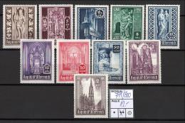 Österreich - 1946 - Michel Nr. 791/800 - Hoher KW!!! - 1945-60 Neufs