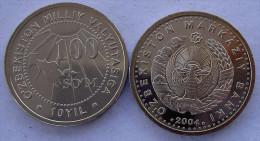 UZBEKISTAN 100 SOM 2004 COMMEMORATIVA 10 ANNI VALUTA DI STATO FDC UNC - Uzbekistan