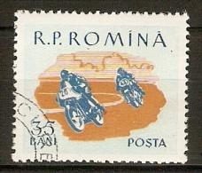 ROUMANIE       -      Course  De  MOTOS     -     Oblitéré - Motorbikes