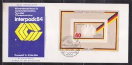 = Allemagne Carte Spéciale Interpack84 10-16.5.84 Dusseldorf 10.5.84 Bloc Avec Blason Allemand L'Aigle - [7] Repubblica Federale