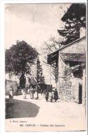 74 CONCIZE - Château Des Capuçins - Animé Femmes Enfants Dans La Rue Du Village - CPA A. Baud.  N° 881 Publicité Au Dos - Unclassified