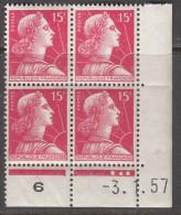 N° 1011 - X X - Daté 03/01/57 - 1950-1959