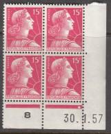 N° 1011 - X X - Daté 30/01/57 - 1950-1959