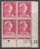 N° 1011 - X X - Daté 10/12/56 - 1950-1959