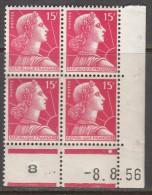 N° 1011 - X X - Daté 08/08/56 - 1950-1959
