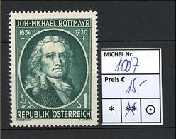 Österreich - 1954 - Michel Nr. 1007 - Hoher KW!!! - 1945-60 Neufs