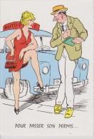 Carte Grivoise Humouristique Auto école Mini Jupe - Chaperon, Jean