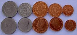 TURKMENISTAN 5 MONETE 1993 50-20-10-5-1 TENGE - Turkménistan